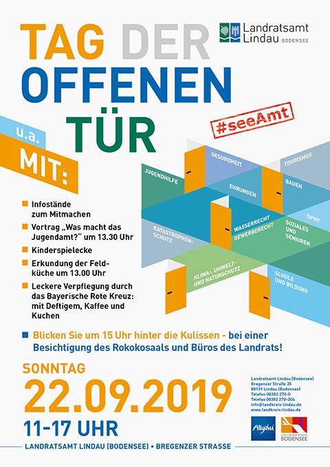 Werbung für den Tag der offenen Tür im Landratsamt Lindau (Bodensee)