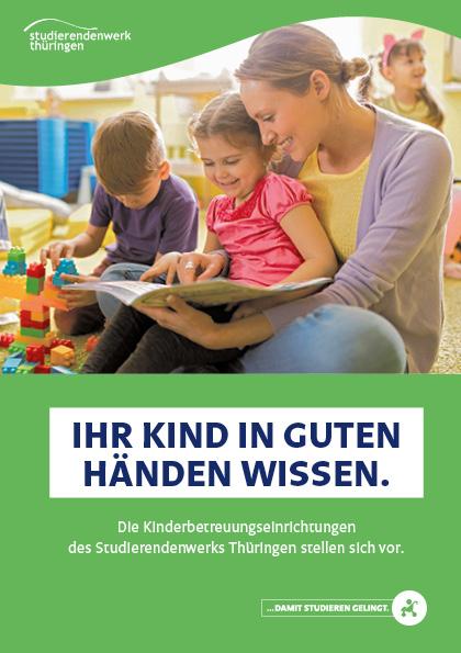 Titel der A5-Broschüre zu den Kindertageseinrichtungen des Studierendenwerks Thüringen