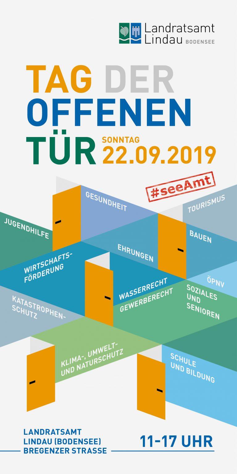 Infoflyer zu einem Tag der offenen Tür im Landratsamt Lindau