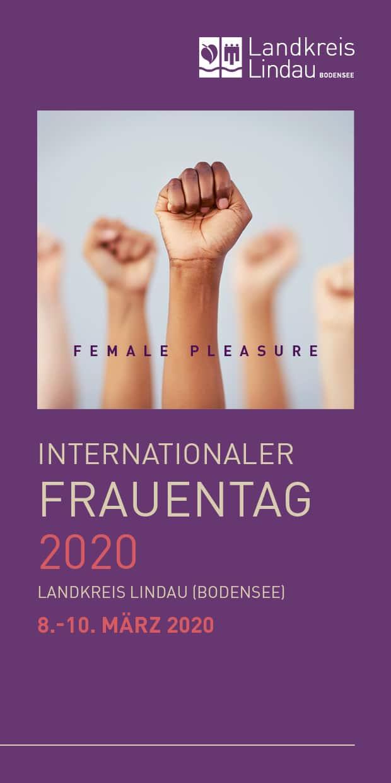 Infoflyer zu Veranstaltungen am Weltfrauentag am 8. März