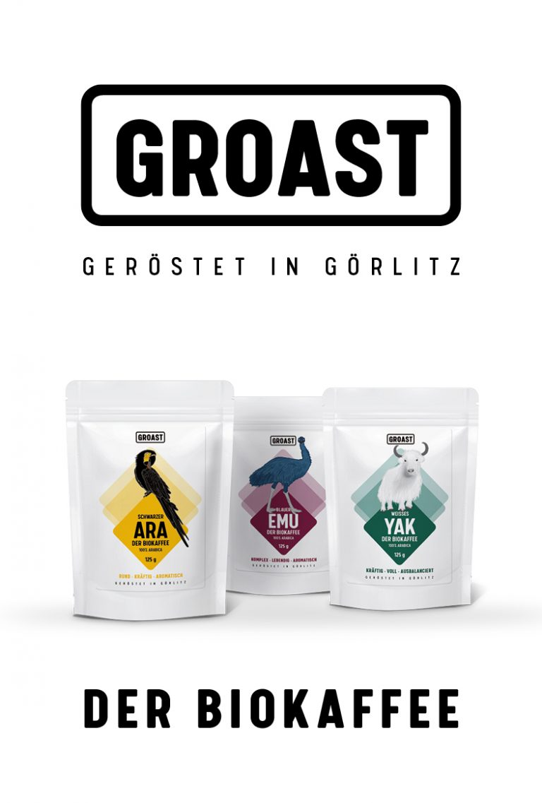 Flyertitel Produktflyer Kaffee GROAST aus Görlitz